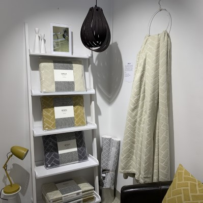 Textilier från Design Lina Johanssons kollektion Brick, i DGB Örsbäck